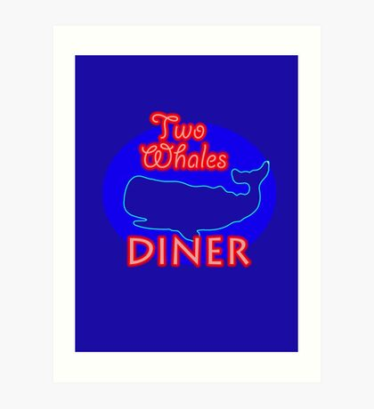 "Two Whales Diner ""So Damn Touristy"" Art Print"