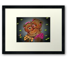 You're grown up now, Teddie girl...you better behave! Framed Print