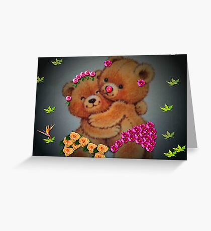 You're grown up now, Teddie girl...you better behave! Greeting Card