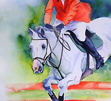 Showjumper iPhone case by Ruth S Harris