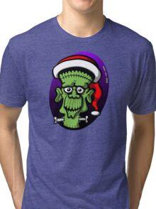Christmas Frankenstein Tri-blend T-Shirt