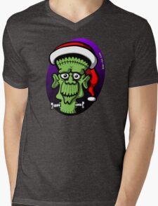 Christmas Frankenstein Mens V-Neck T-Shirt