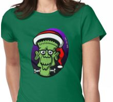 Christmas Frankenstein Womens Fitted T-Shirt