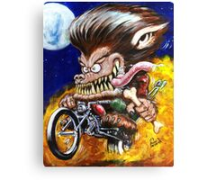 Werewolf on Wheels Canvas Print