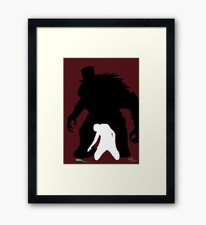 Dr Jekyll and Mr Hyde! Minimalism / pop art inspired Framed Print