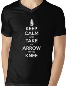 Keep Calm and Take an Arrow to the Knee Mens V-Neck T-Shirt