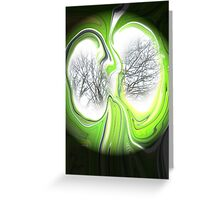 Visionary lungs of the evergreen trees Greeting Card