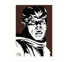 The Wolfman! Classic horror villain, pop art inspired Art Print