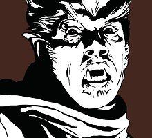 The Wolfman! Classic horror villain, pop art inspired by GannucciArt