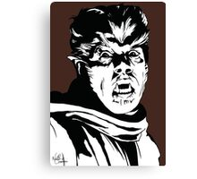 The Wolfman! Classic horror villain, pop art inspired Canvas Print