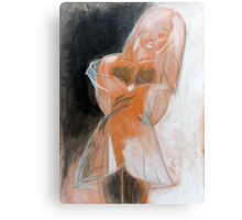 EMILY (ORANGE) Canvas Print