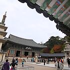 Crowds at Bulguksa Temple, Korea by Jane McDougall