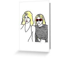 Kurt Cobain and Courtney Love Greeting Card