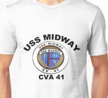 USS Midway (CVB/CVA/CV-41) Crest Unisex T-Shirt