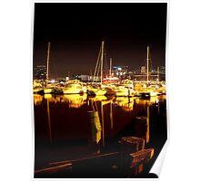 Melbourne Docklands at Night 6568 Poster