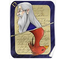 Albus Dumbledore Playing Card Poster