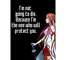 Asuna Couple quote Photographic Print