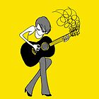 The Girl and the Guitar Tshirt by Midori Furze