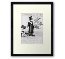 Mr Leatherstone Framed Print