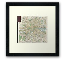 Vintage Map of London England (1900) Framed Print