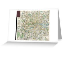 Vintage Map of London England (1900) Greeting Card