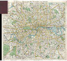 Vintage Map of London England (1900) Photographic Print