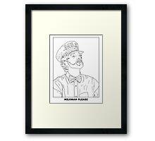 SCHEN BWARTZ WHITE Framed Print