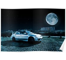 Evo 7 At Night Poster