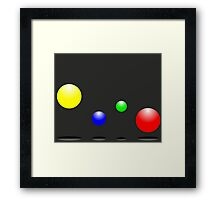 Bouncing balls in the air Framed Print