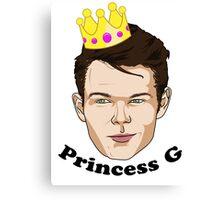 Princess G - Black Text Canvas Print