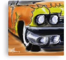 Cadillac With Flames Canvas Print