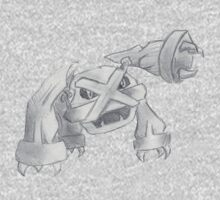 Metagross - B&W by Derek Wheatley One Piece - Long Sleeve