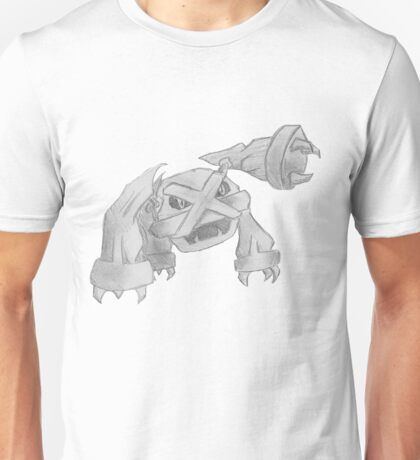 Metagross - B&W by Derek Wheatley T-Shirt