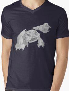 Metagross - B&W by Derek Wheatley Mens V-Neck T-Shirt