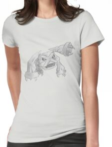 Metagross - B&W by Derek Wheatley Womens Fitted T-Shirt