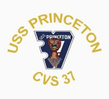 USS Princeton (CV/CVA/CVS-37) Crest for Dark Colors One Piece - Short Sleeve
