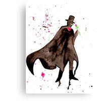 Tuxedo Mask Watercolor Canvas Print