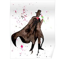 Tuxedo Mask Watercolor Poster