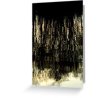 Sunset Tree Reflections Abstract Light Patterns Greeting Card