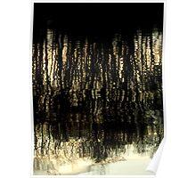 Sunset Tree Reflections Abstract Light Patterns Poster