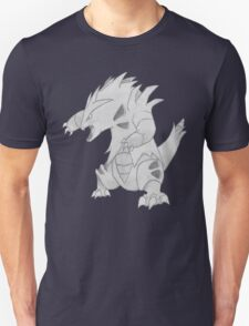 Tyranitar - B&W by Derek Wheatley Unisex T-Shirt