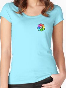 Rainbow Badge (Pokemon Gym Badge) Women's Fitted Scoop T-Shirt