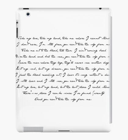 Ballad of Serenity iPad Case/Skin