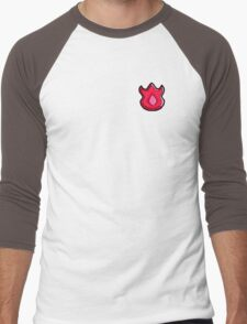 Volcano Badge (Pokemon Gym Badge) Men's Baseball ¾ T-Shirt