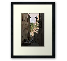 Streets of Sienna Framed Print
