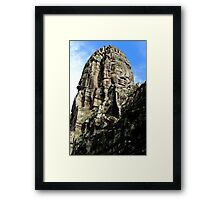 The Faces of Bayon II - Angkor, Cambodia.  Framed Print