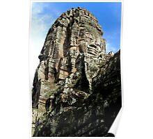 The Faces of Bayon II - Angkor, Cambodia.  Poster