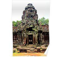 Temple of Preah Khan - Angkor, Cambodia. Poster