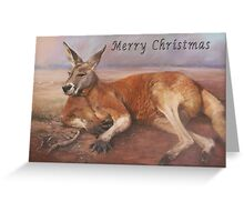 Big Red xmas Greeting Card