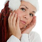Portrait of young modern christmas girl. by fotorobs